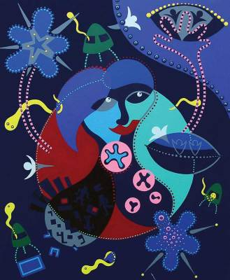 Painting - Cosmic Help Mother Earth - Toyism. Buy art online.