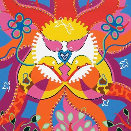 Schilderij - Omarming Oneindigheid - Toyisme. Hedendaagse kunst online kopen.