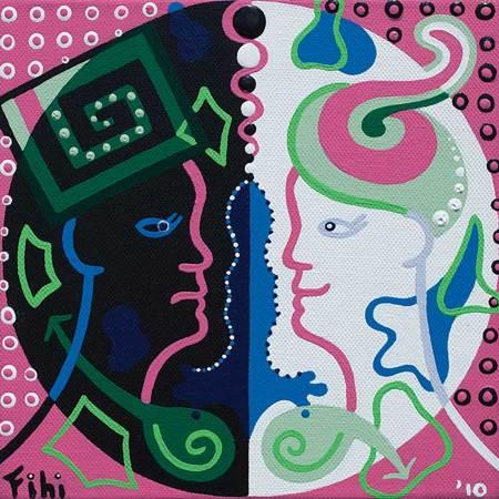 Schilderij - Slachtoffer Denken - Toyisme. Hedendaagse kunst online kopen.