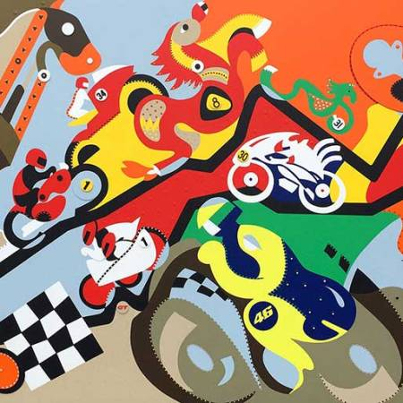 Silkscreen - Horsepower Mania Silkscreen - Toyism. Art for sale. Buy bestselling silkscreens online.