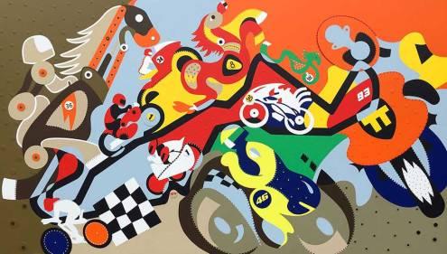 Zeefdruk - Grafiek - Horsepower Mania Zeefdruk - Toyisme. Kunst te koop. Koop kleurrijke kunstdruk online.