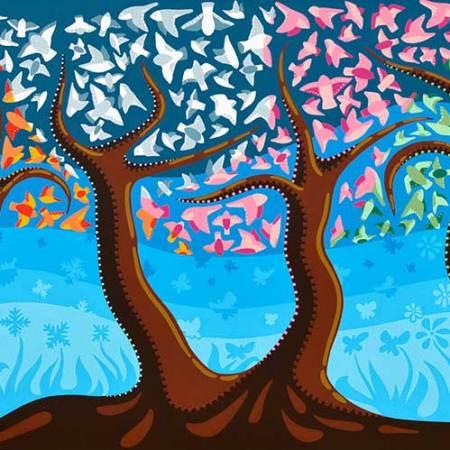 Schilderij - Jaargetijden Rouw - Toyisme . Hedendaagse kunst online kopen.