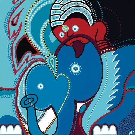 Schilderij - De Olifant - Toyisme. Hedendaagse kunst online kopen.