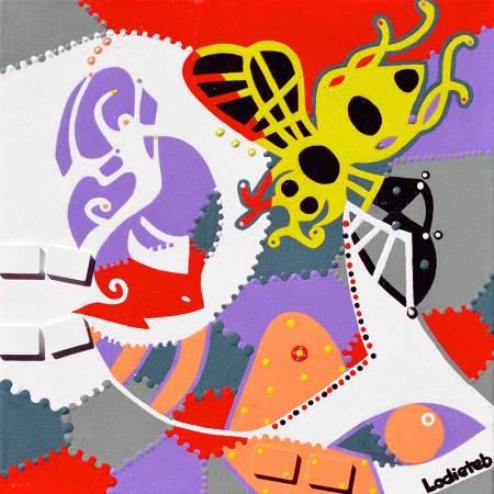 Schilderij - Jurate Honingbij - Toyisme. Hedendaagse kunst online kopen.