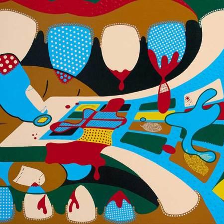 Schilderij - Grip - Toyimse. Hedendaagse kunst online kopen.