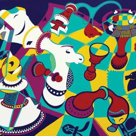 Schilderij - Mat Gebaar - Toyisme. Hedendaagse kunst online kopen.