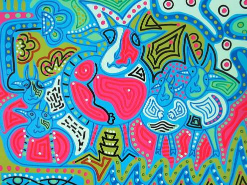 Painting - Spotted Cow - Toyism. Buy art online.