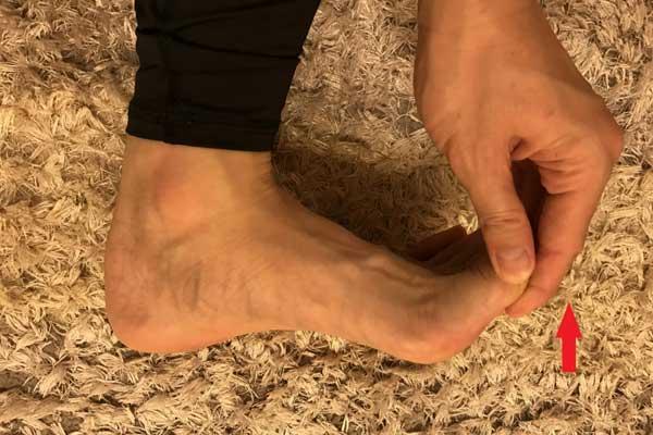 足の裏がつった時のストレッチ