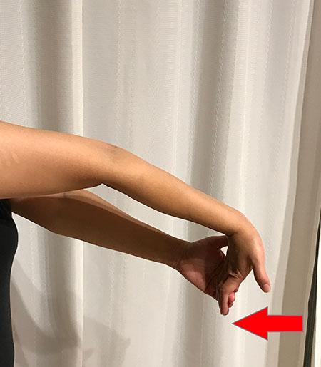 手首のストレッチ