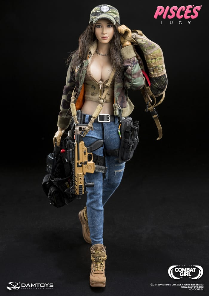 DAMTOYS DCG004 1//6 Scale Combat Girl SERIES PISCES Lucy Patch Set Medals
