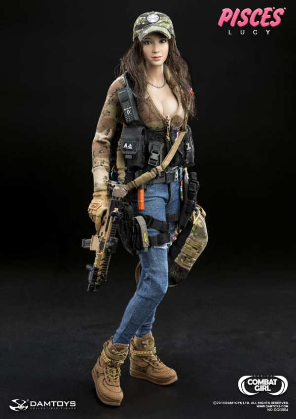Female Camo Ball Cap Hat Pisces Lucy 1//6 Scale Damtoys Action Figures