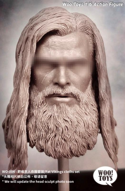 """Ares Toys 1//6 Scale Viking Head Sculpt Fit for 12/"""" Action Figures Body"""