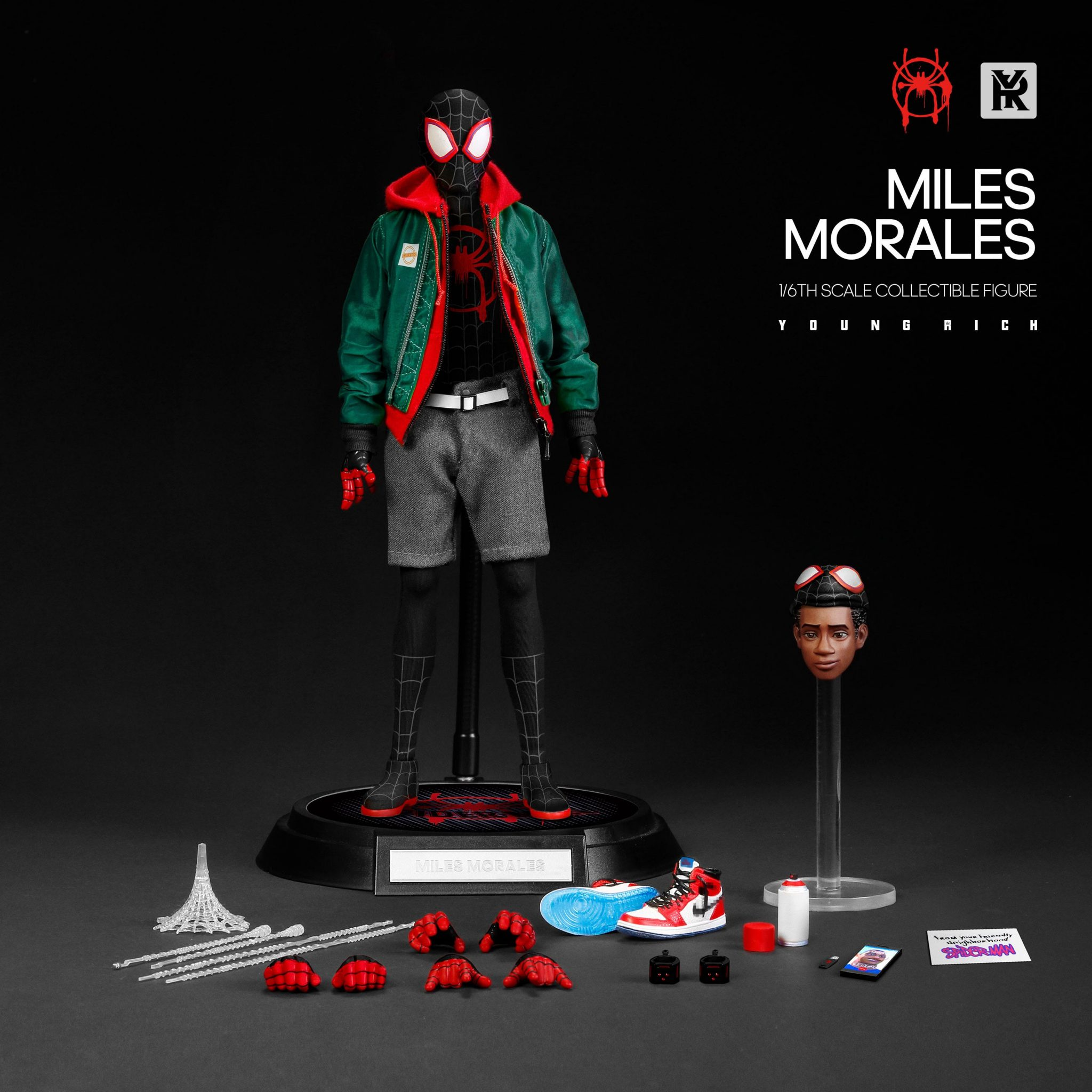 YOUNGRICH TOYS 1//6 Into the Spider-Verse Miles SP002 Action Figure Spider-man