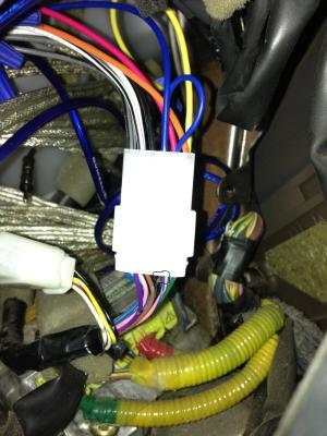 Stereo wiring diagram or color of power antenna  Toyota