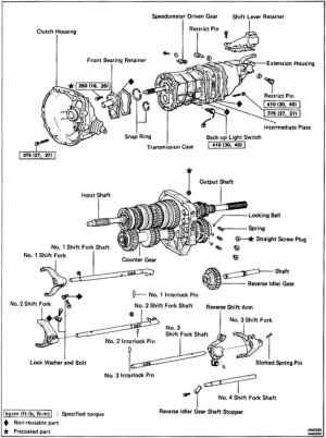Toyota W58 Transmission Diagram Toyota Auto Parts