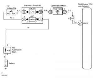Abs Warning Light Circuit Circuit Description  Toyota