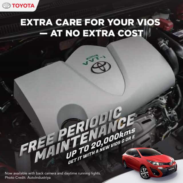 5-YEAR WARRANTY WHEN YOU PURCHASE A VIOS