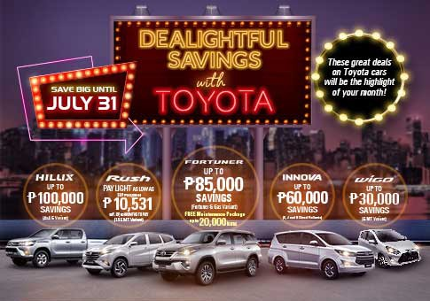 Big Savings with Toyota this July 2019