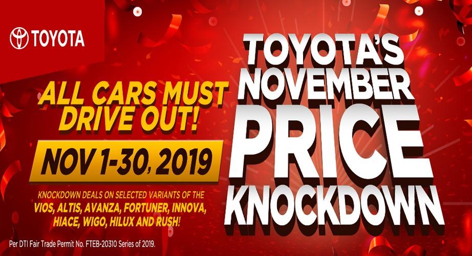 Toyota Cebu Philippines November 2019 Promos