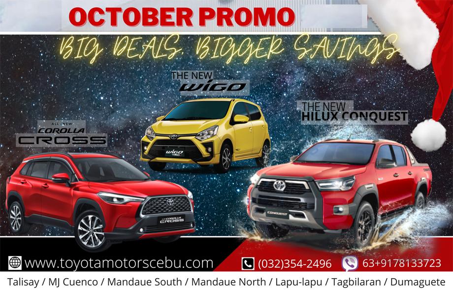 Toyota Motors Cebu October 2021 Promotions