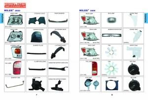 Toyota Body Parts Catalog, Head Lamp, Rear Lamp, Bumper