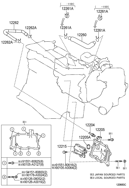Toyota Venza Valve Sub Assembly Ventilation Valve Pcv