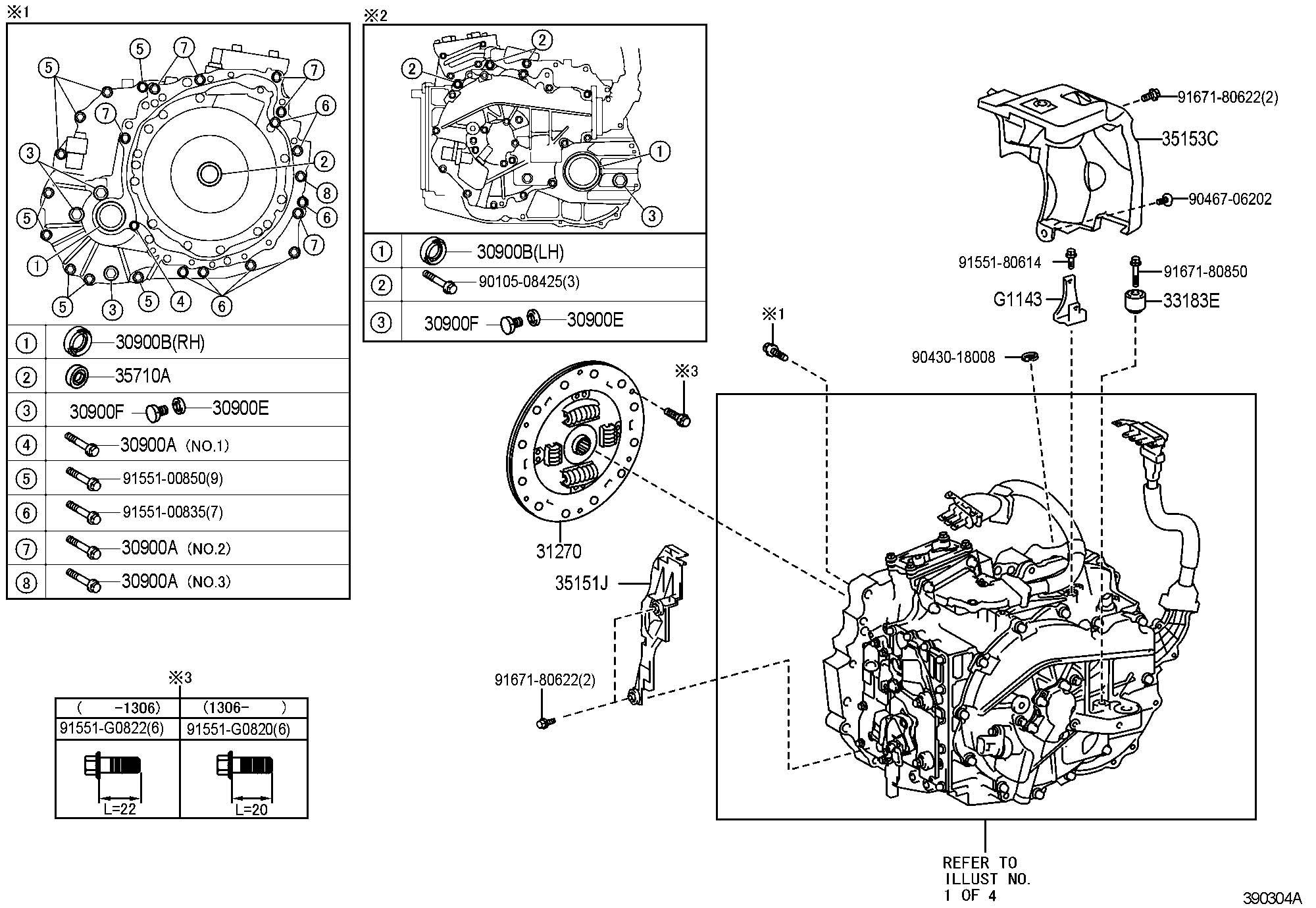 Toyota Bolt For Hybrid Vehicle Transaxle Amp Engine