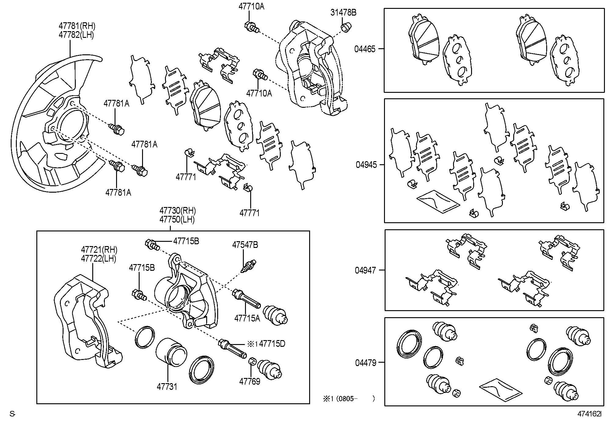 Toyota Tacoma Pad Kit Disc Brake Front Proper