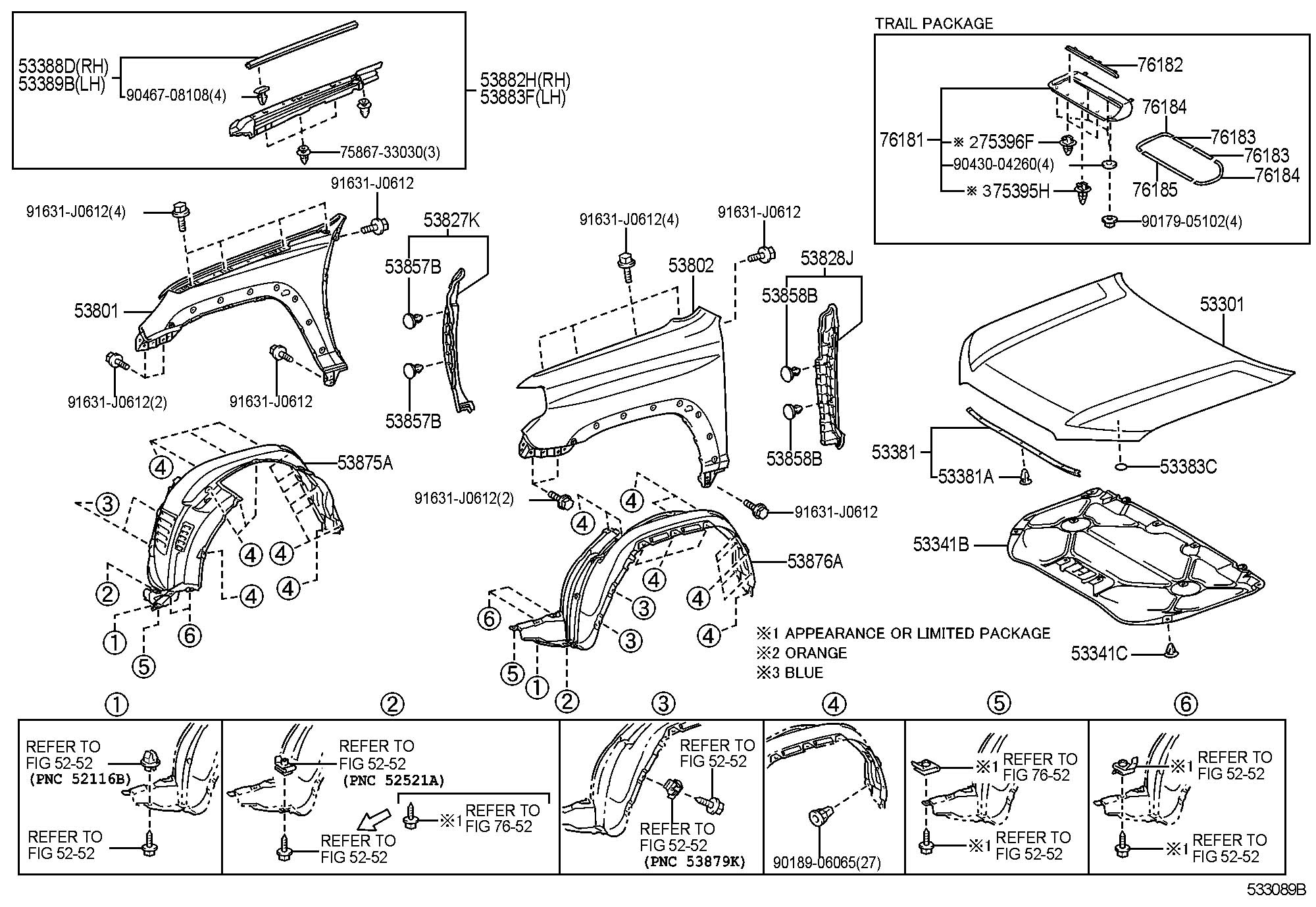 Toyota 4runner Clip Outside Moulding No 2 Clip
