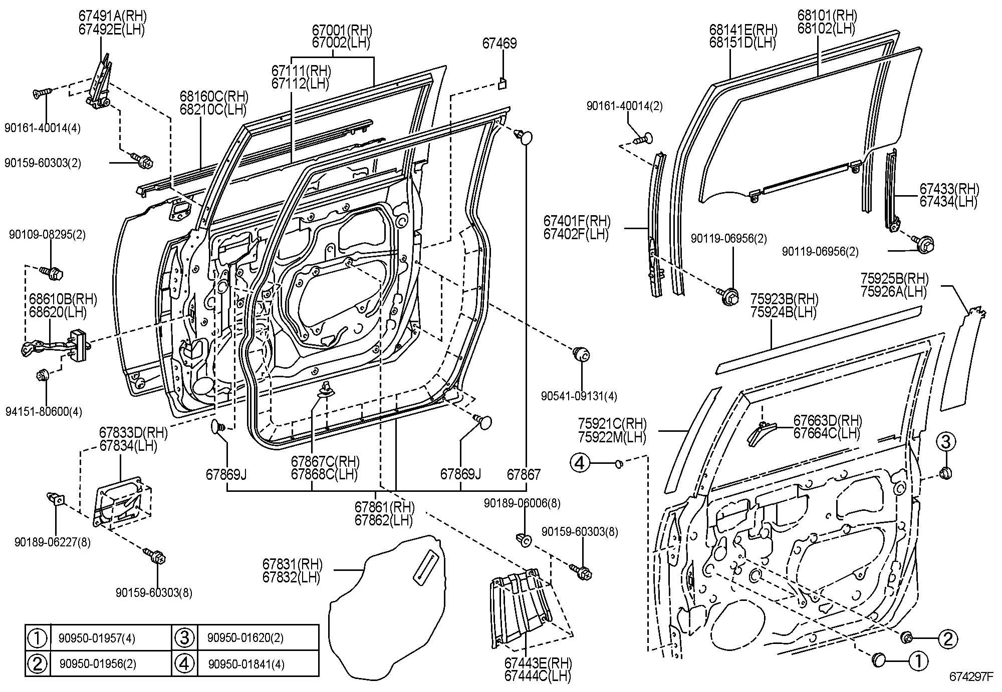 Toyota Fj Cruiser Weatherstrip Front Door Left