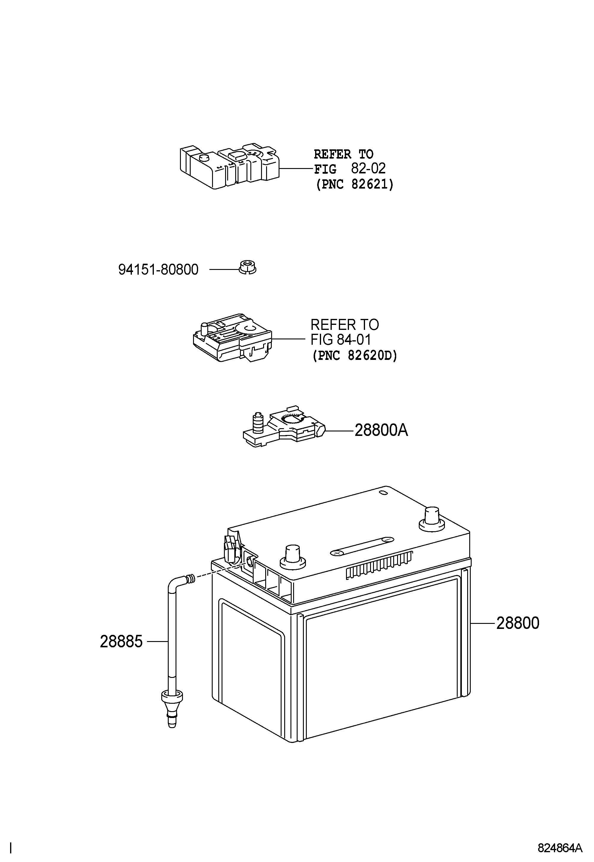Toyota Camry Battery Battery S65d26r Mf Efi Dohc