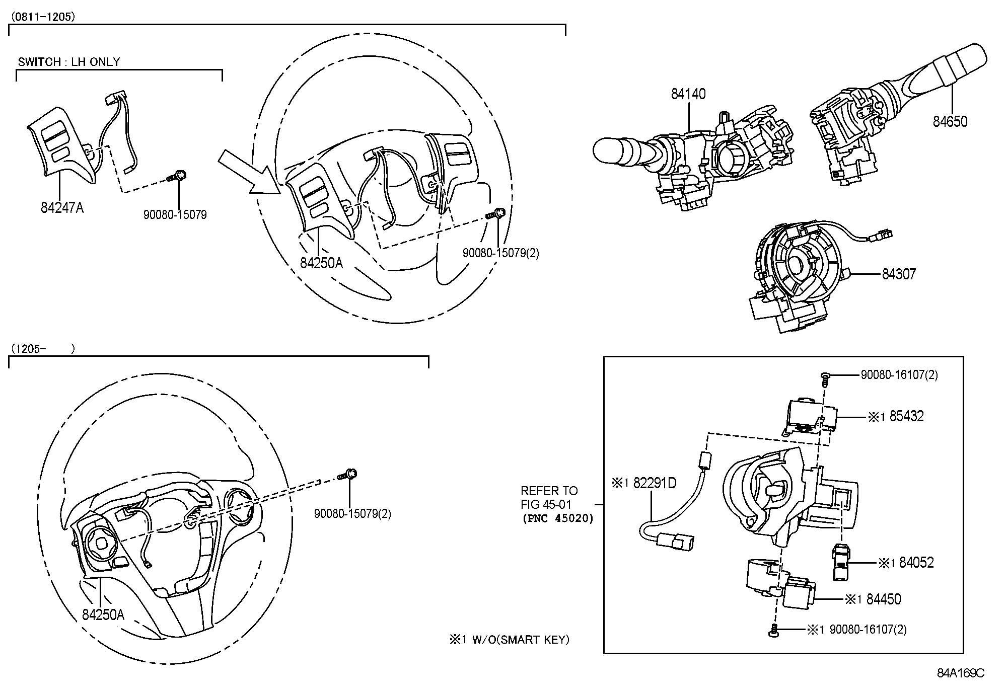 Toyota Venza Switch Assembly Windshield Wiper Switch