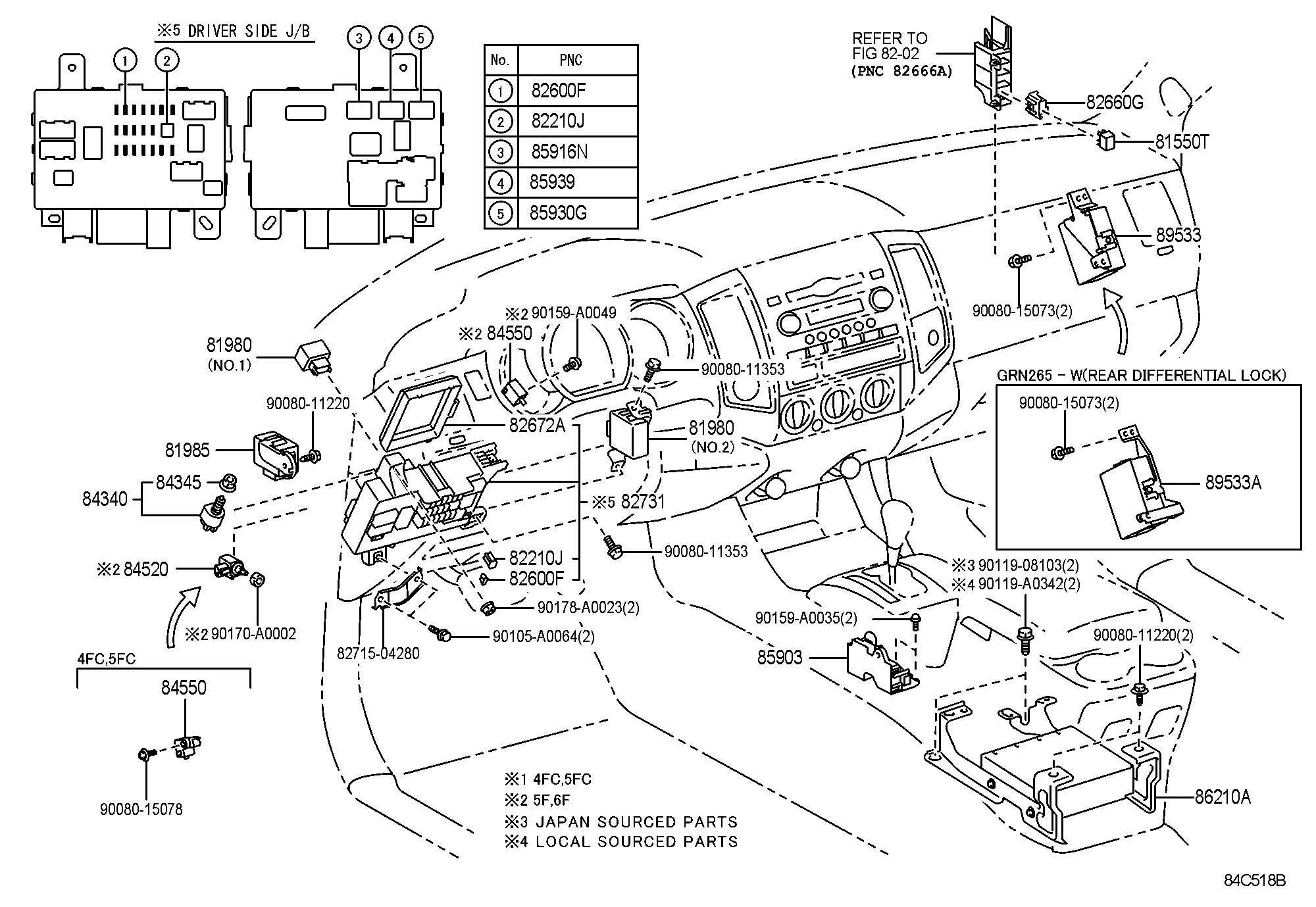 Toyota Tacoma Flasher Assembly Turn Signal Flasher
