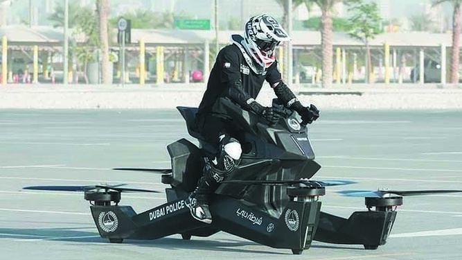 LA POLICÍA DE DUBAI - MOTOS VOLADORAS PARA EL 2020