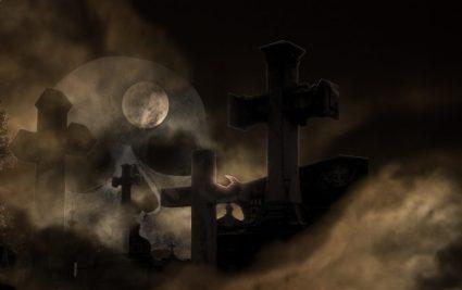 cementerio noche tumbas luna oscuridad muertos LAS HABAS EN LA RELIGIÓN ANTIGUA Y LA MITOLOGÍA