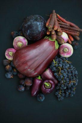 verduras viola púrpura berenjena pimientos uvas