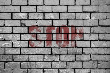 stop wall WHEN WE ARE REJECTED BY PEOPLE WE DON'T KNOW