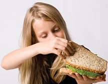 Picky Girl Eater 2 - Copyright – Stock Photo / Register Mark