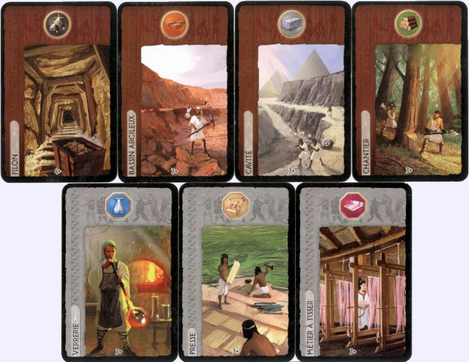 7 Wonders cartes ressources