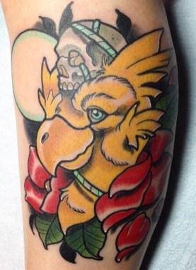 Nicholas Keiser geek peau best of tattoo final fantasy chocobo