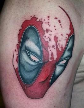 Kyle McIntosh Tattoo best of tattoo geek peau deadpool marvel