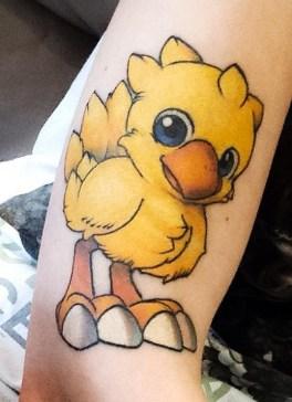 Mike Prior geek peau best of tattoo final fantasy chocobo
