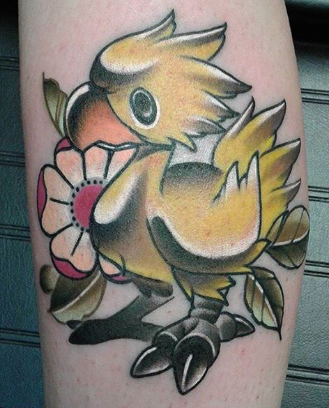 ZenmasterZack geek peau best of tattoo final fantasy chocobo