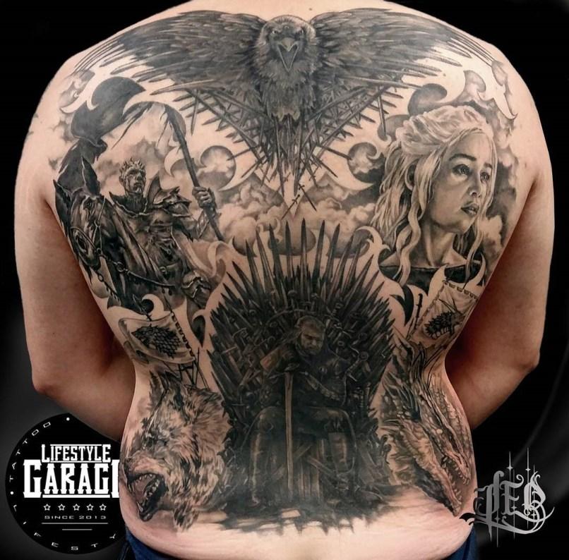 Leo Thissen geek best of tattoo game of thrones GOT