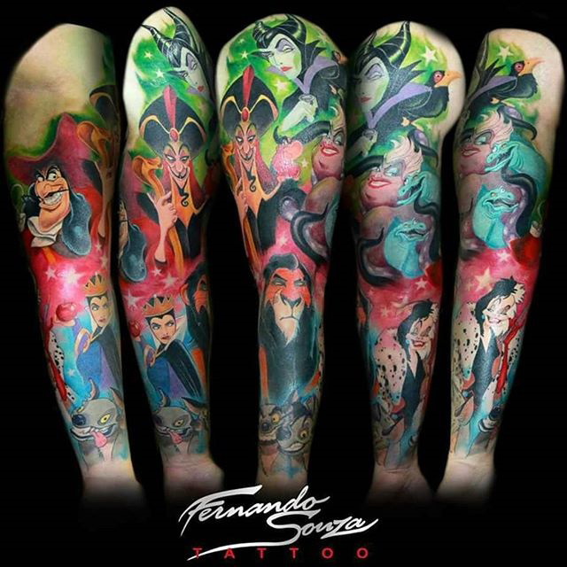 Fernando Souza best of tattoo geek peau villains