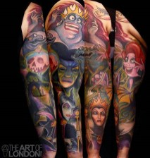 London Reese best of tattoo geek peau villains