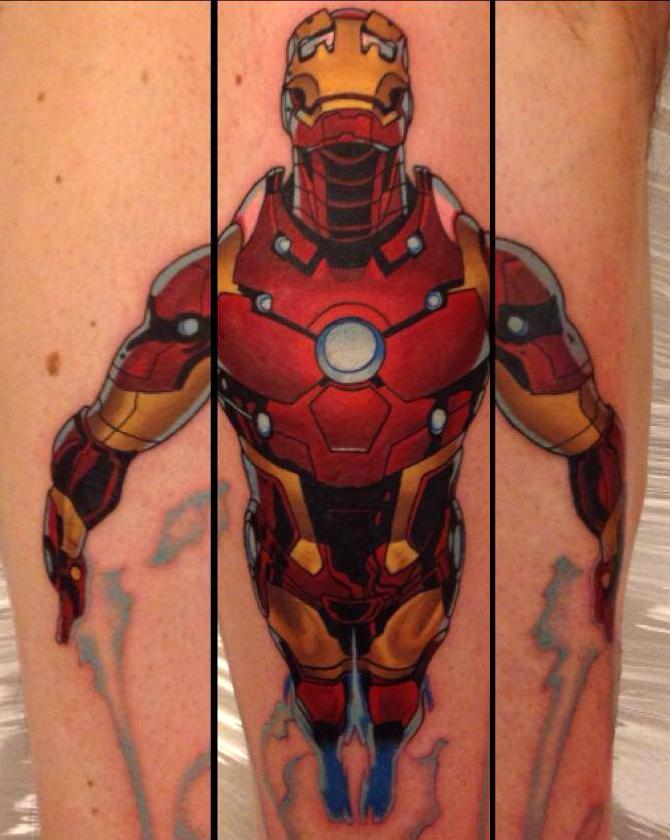 Dane Grannon best of tattoo iron man