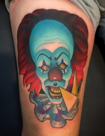 Marty McEwen best of tattoo it ca pennywise clown horror movie float