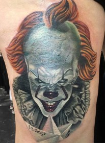 Mike Hamill Jr. best of tattoo it ca pennywise clown horror movie float