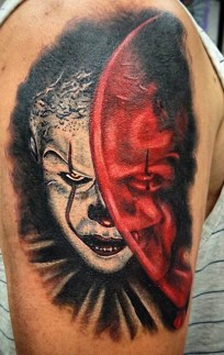 Lars Vegas Christoffersen best of tattoo it ca pennywise clown horror movie float